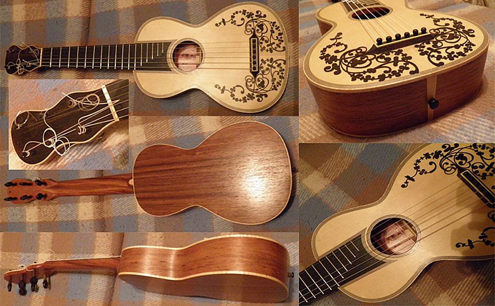Картинки на гитару своими руками 44
